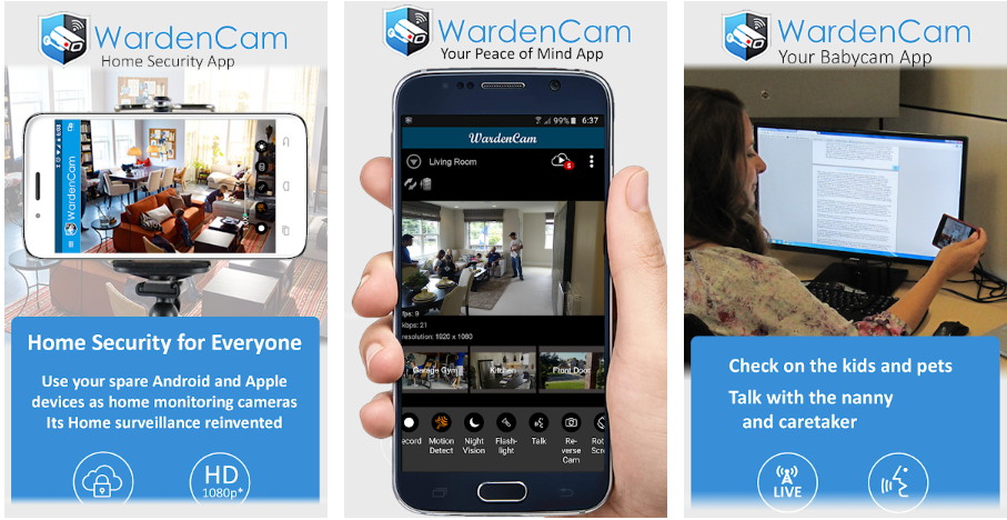 ome Security Camera WardenCam App For PC